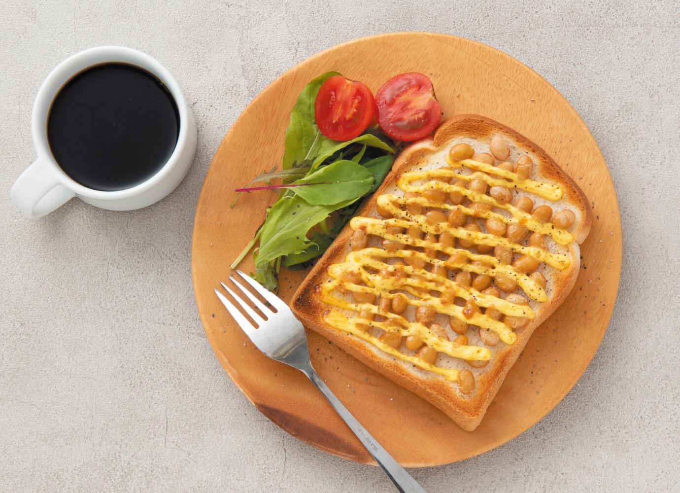 大豆のトースト