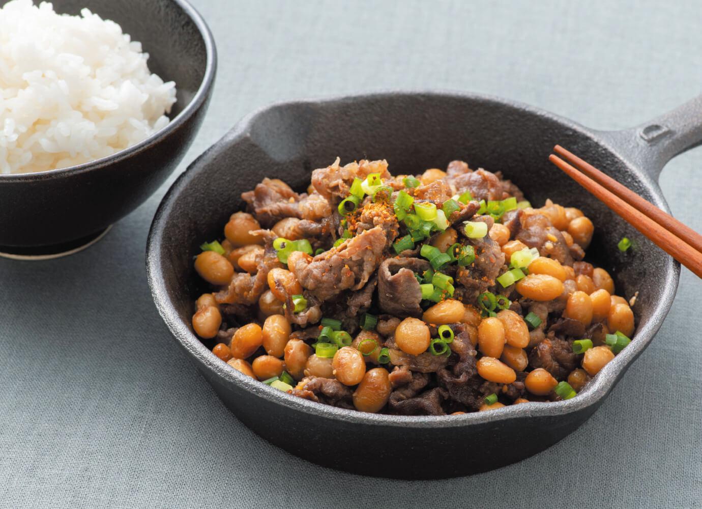 大豆と牛肉のスタミナ炒め<span>(2人分)</span>
